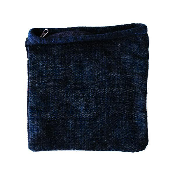 黒モン族 古布 刺繍 ポーチ(正方形 A 17×16)民族 刺繍 / ベトナム直輸入【画像2】