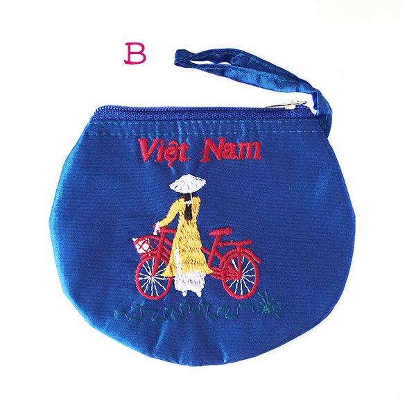 ベトナム  アオザイ 刺繍 ポーチ(自転車 3色)【画像3】