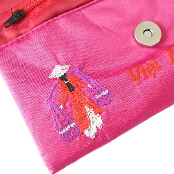 ベトナム アオザイ 刺繍ポーチ 財布(A)【画像3】