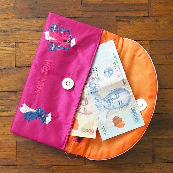 ベトナム アオザイ 刺繍ポーチ 財布(A)【画像8】