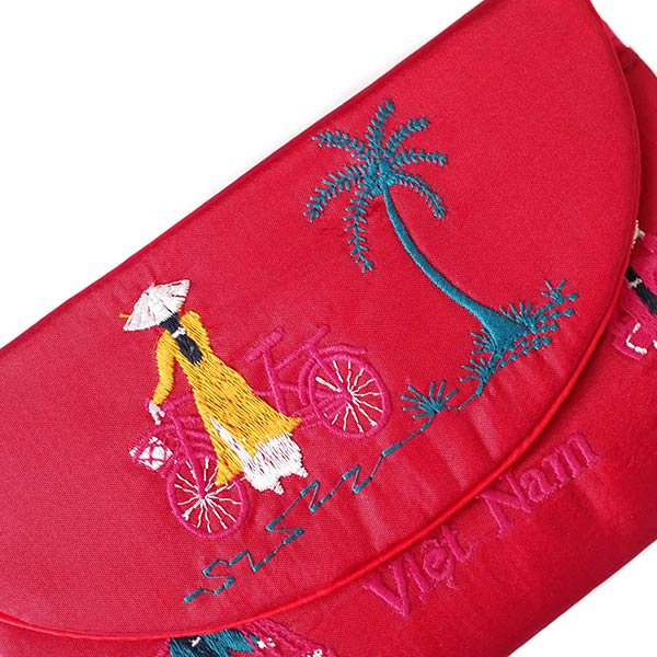 ベトナム アオザイ 刺繍ポーチ 財布(B)【画像2】