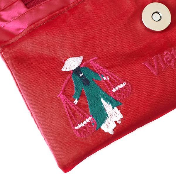 ベトナム アオザイ 刺繍ポーチ 財布(B)【画像3】