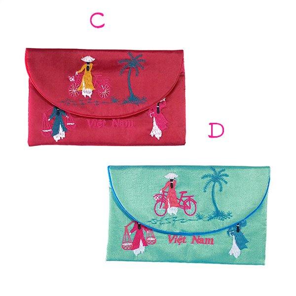 ベトナム アオザイ 刺繍ポーチ 財布(B)【画像6】