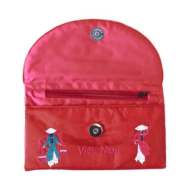 ベトナム アオザイ 刺繍ポーチ 財布(B)【画像7】