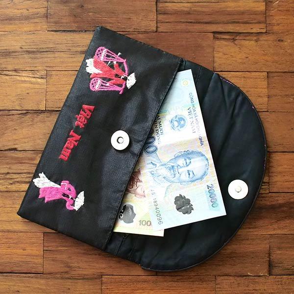 ベトナム アオザイ 刺繍ポーチ 財布(B)【画像8】