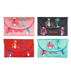 ベトナム アオザイ 刺繍ポーチ 財布(B)