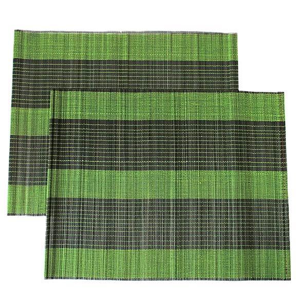 ベトナム 竹 ランチョンマット(グリーン)30cm×40cm