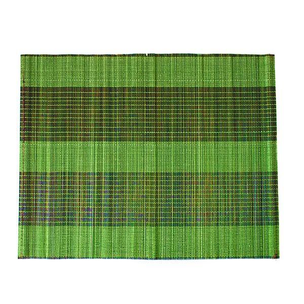 ベトナム 竹 ランチョンマット(グリーン)30cm×40cm【画像2】