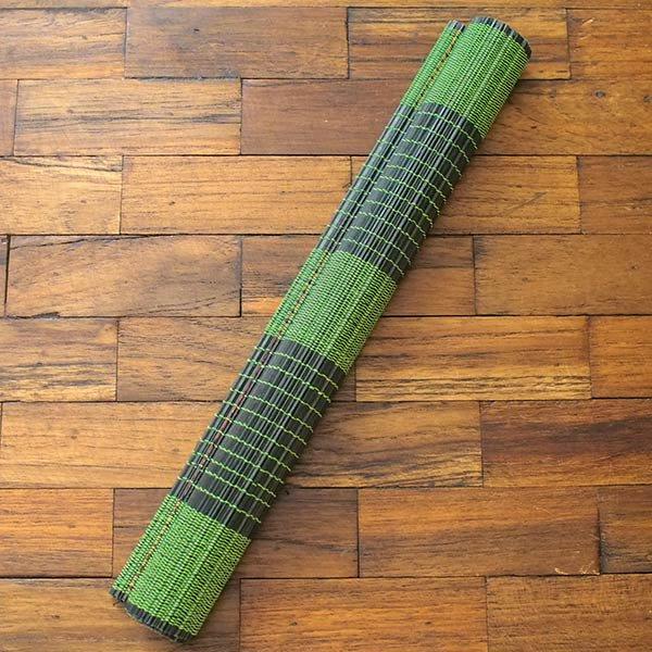 ベトナム 竹 ランチョンマット(グリーン)30cm×40cm【画像3】