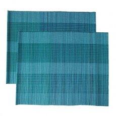 ベトナム 竹 ランチョンマット(ブルー)30cm×40cm
