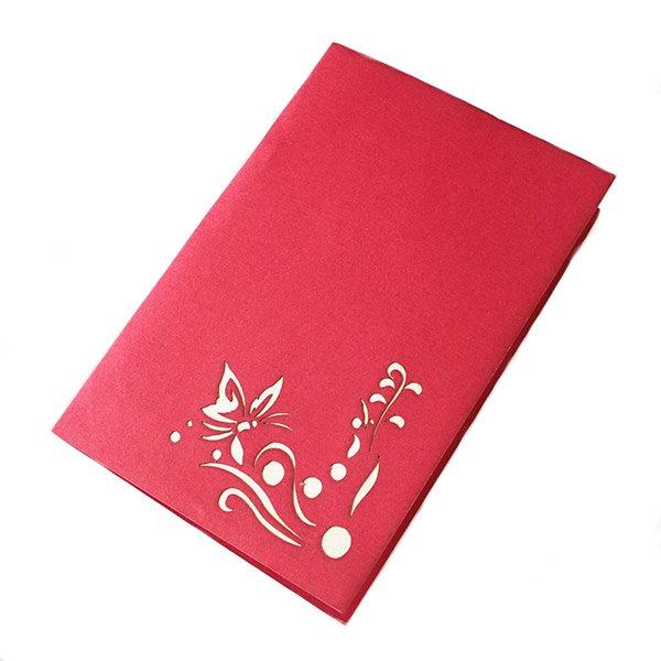 ベトナム 切り絵のポップアップ(蓮の花と蝶々  15×10)【画像5】