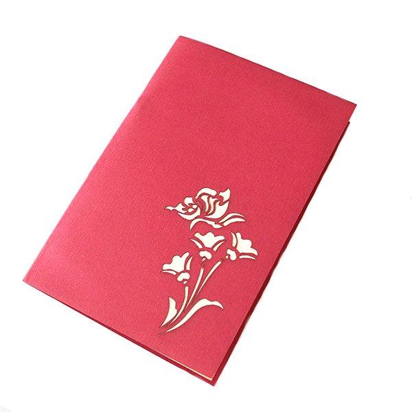 ベトナム 切り絵のポップアップ(蓮の花と2匹の蝶々 15×10)【画像2】