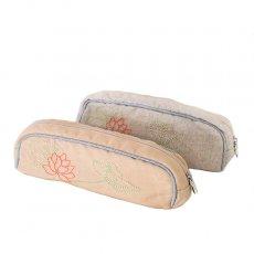 ベトナム  蓮の花(ロータス)刺繍  ペンケース(チャック付き 2色)