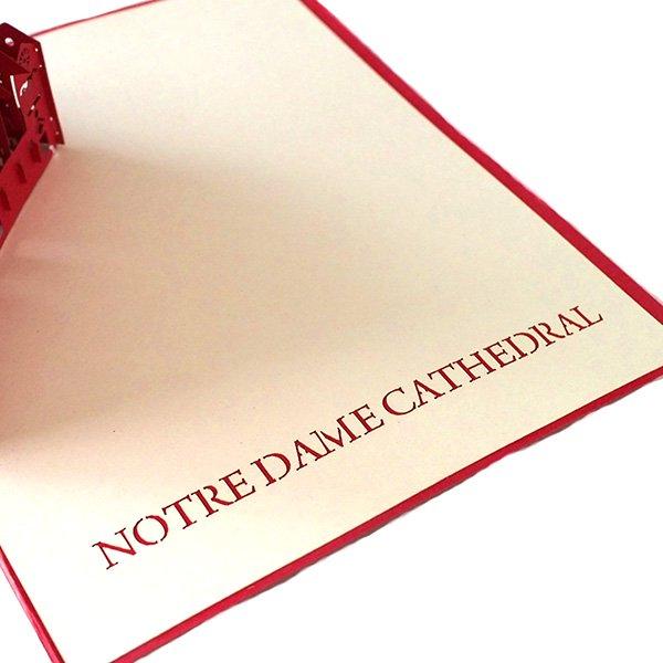 ベトナム 切り絵 ポップアップカード(サイゴン大教会 16.5×14)【画像3】