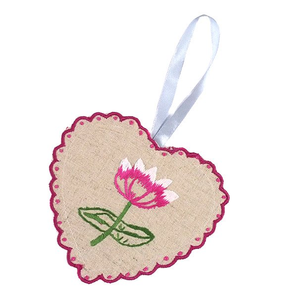 ベトナム 蓮の花(ロータス)刺繍のサシェ (2色)【画像2】