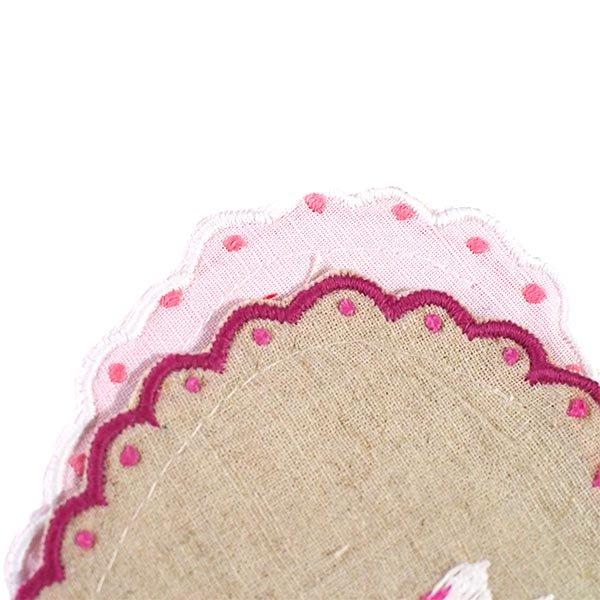 ベトナム 蓮の花(ロータス)刺繍のサシェ (2色)【画像6】