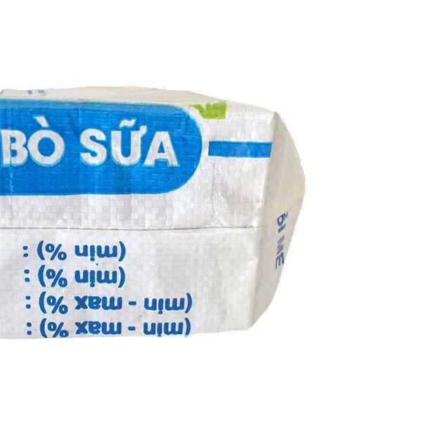 ベトナム 飼料袋 リメイク トートバッグ(マチ付き ウシ ブルー 小)【画像5】