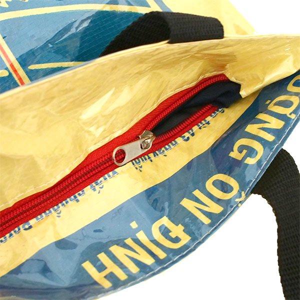 ベトナム 飼料袋 リメイク トートバッグ(マチ付き コウノトリ 小)【画像4】