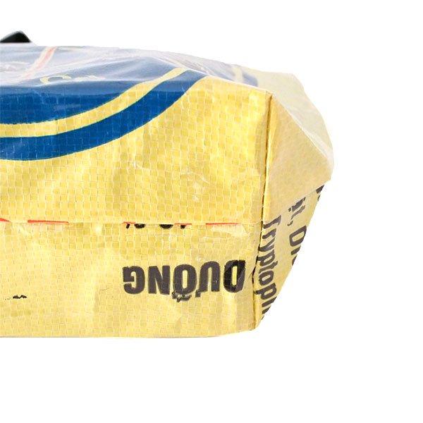 ベトナム 飼料袋 リメイク トートバッグ(マチ付き コウノトリ 小)【画像5】