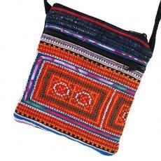 ベトナム 少数民族 刺繍 モン族 刺繍 ポシェット(I 15×13)民族 刺繍 / ベトナム直輸入