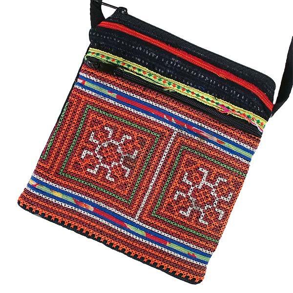 ベトナム 少数民族 モン族 刺繍 ポシェット(J)