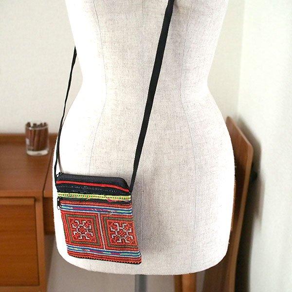 ベトナム 少数民族 モン族 刺繍 ポシェット(J)【画像3】