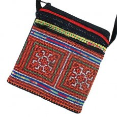 ベトナム 少数民族 刺繍 モン族 刺繍 ポシェット(J 15×13)民族 刺繍 / ベトナム直輸入