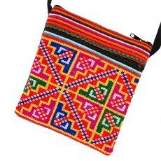 モン族 刺繍 ポシェット(K 15×13)民族 刺繍 / ベトナム直輸入