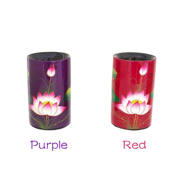 ベトナム 漆 蓮の花 ペン立て(4色)【画像2】