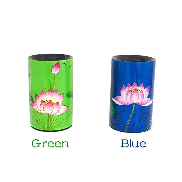 ベトナム 漆 蓮の花 ペン立て(4色)【画像3】