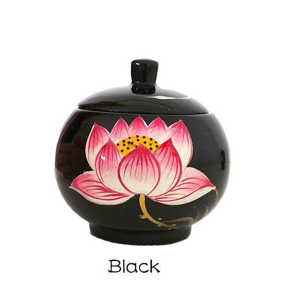 ベトナム 蓮の花(ロータス)漆 小物入れ B【画像7】
