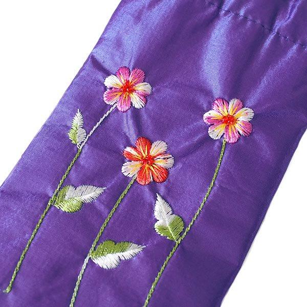 ベトナム 花刺繍 メガネケース A(紐付き 斜めがけOK)【画像4】