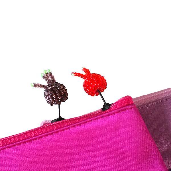 ベトナム 花 刺繍 ポーチ(マチ付き A)【画像5】