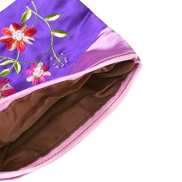 ベトナム 花 刺繍 ポーチ(マチ付き A)【画像6】