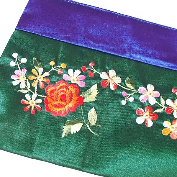 ベトナム 花 刺繍 ポーチ(マチ付き B)【画像4】