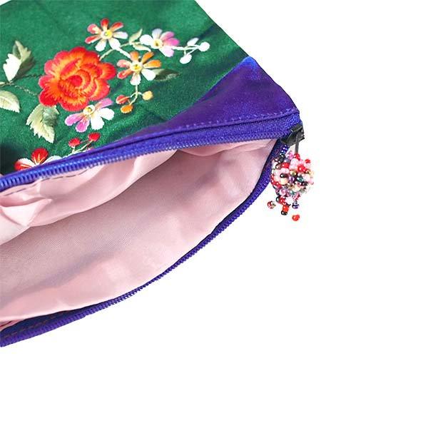 ベトナム 花 刺繍 ポーチ(マチ付き B)【画像6】