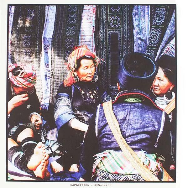 ベトナム ポストカード(お花売りのおじさん)