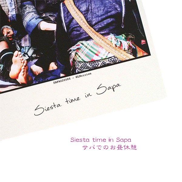 ベトナム ポストカード 【Siesta time in Sapa サパでのお昼休憩】【画像3】