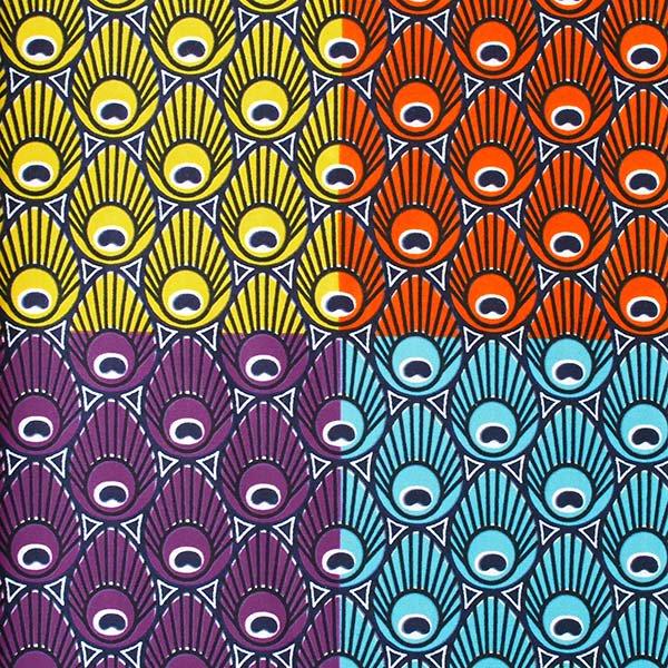 アフリカン プリント布 パーニュ 115×90 カットオフ(模様 4色)