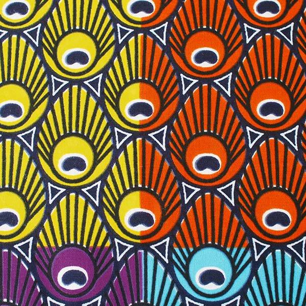 アフリカン プリント布 パーニュ 115×90 カットオフ(模様 4色)【画像2】