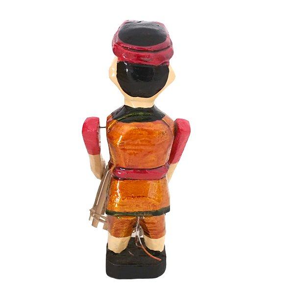 ベトナム 水上人形劇 木の人形(カゴを持つ人 B  小)【画像3】