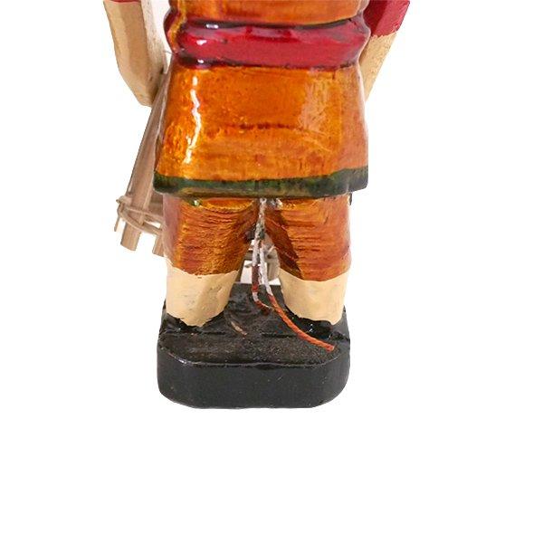ベトナム 水上人形劇 木の人形(カゴを持つ人 B  小)【画像4】