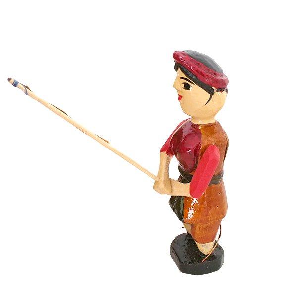 ベトナム 水上人形劇 木の人形(釣りをする人 B  小)【画像2】