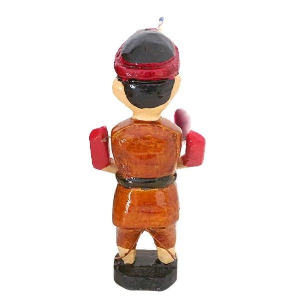 ベトナム 水上人形劇 木の人形(釣りをする人 B  小)【画像3】