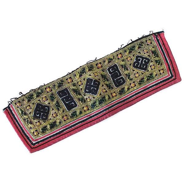ベトナム 山岳民族 黒モン族 刺繍 古布 D (1点もの リメイク素材)【画像2】