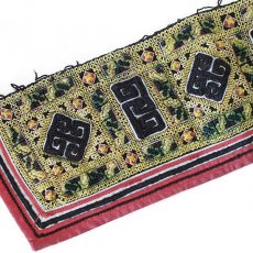 ベトナム 民族 ベトナム 山岳民族 黒モン族 刺繍 古布 D (1点もの リメイク素材)