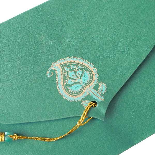 インド chimanlals(チマンラール)封筒 ARAADHYA ペイズリー 大 B【画像3】
