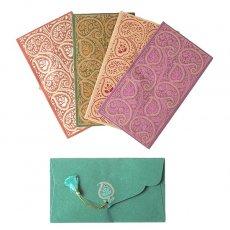 インド chimanlals(チマンラール)封筒 ARAADHYA ペイズリー 大 B