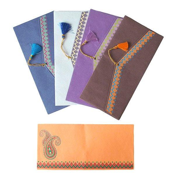 インド chimanlals(チマンラール)封筒 DHANANJAY ペイズリー B