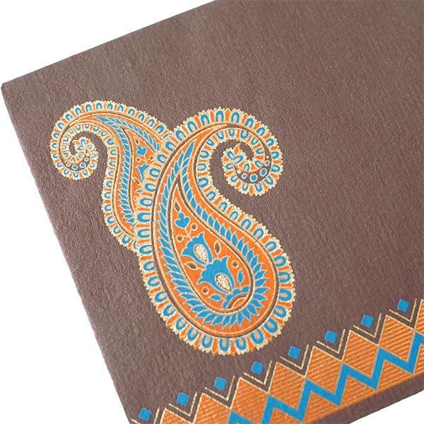 インド chimanlals(チマンラール)封筒 DHANANJAY ペイズリー B【画像4】